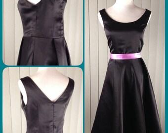 1950 dress, Audrey hepburn dress, little black dress - Clearance
