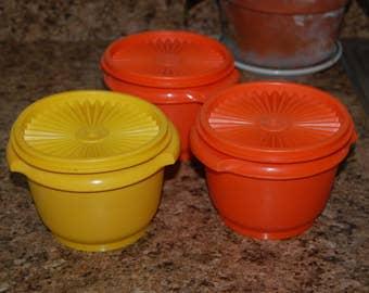 Tupperware Bowls  / Three Servilier