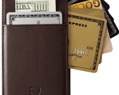iPhone 66s Wallet Case Vaultskin Eton iPhone 66s (4.7) Case Wallet Brown  Holds up to 8 Cards  Premium Genuine Leather