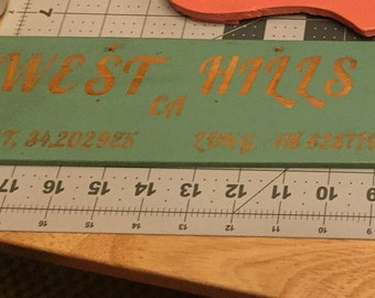 Personalized Latitude and Longitude Sign