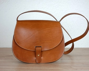 Leather purse crossbody Leonorus, handmade leather bag, Brown handbag, shoulder bag, Saddle bag purse, Leather satchel, Vintage leather bag