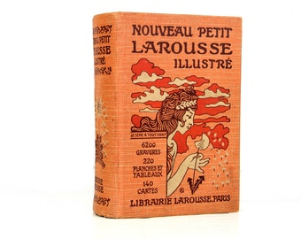 Larousse Illustre French Illustrated Dictionary, 1934, Collectible Dictionary, Paper Ephemera, Alphabet Pages