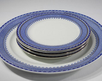 Vintage English Princess China Plates Blue and White Serving Dishes Replacement China