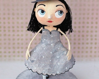 Lady with Hat, OOAK doll