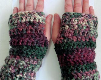 Burgundy Fingerless Gloves Green Fingerless Gloves Crocheted Fingerless Gloves Burgundy Texting Gloves Green Texting Gloves