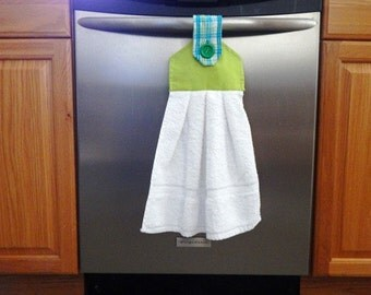 Hanging Towel, kitchen towels, kitchen and dining, embroidered towel, table linen, towels, hand towels, kitchen towels, dish towel,