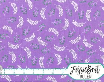 PURPLE TWIGS Fabric by the Yard, Fat Quarter Purple & Aqua BRANCHES Fabric 100% Cotton Fabric Quilting Fabric Apparel Fabric Yardage w3-26