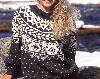Icelandic Sweater, Ugly sweater, Fair isle knitwear, custom made christmas sweater, knit jumper, made to order pullover, Xmas gift for her