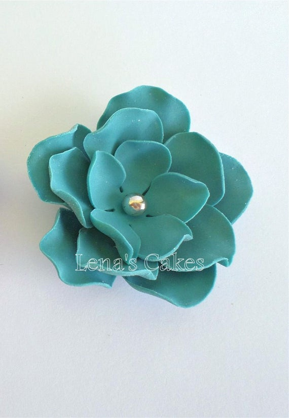 how to make teal fondant