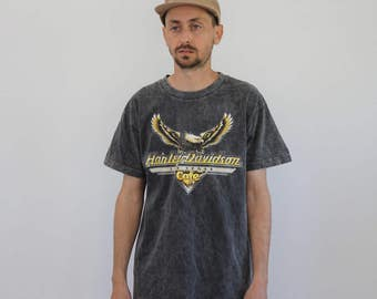 Acid Wash Harley Davidson Csfe Shirt Medium