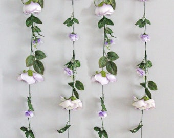 Wedding Flower Garland, Wedding Ceremony Backdrop, Hanging Flower Backdrop, Silk Flower Garland, Wedding Flower Wall