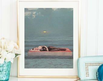 Art prints - Mindfulness - Minimalist art print - VIntage prints - Sea poster