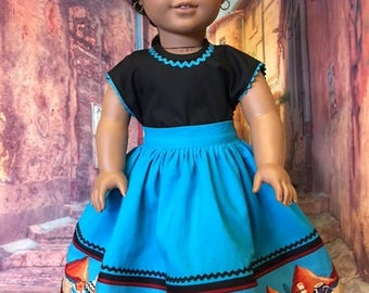 Skirt and Camisa fits Josephina, American Girl Doll and 18 inch dolls