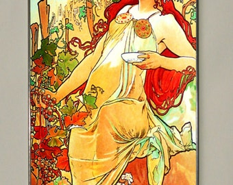 Alphonse Mucha - Autumn II, Stained glass, Vacation until 18. September