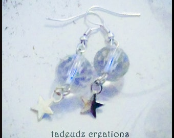 Crystal Bead Star Earrings