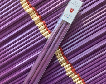 Purple Pencils, set of 9, Back to School Supplies, Gifts for him, Gifts for her, Preppy School Supplies