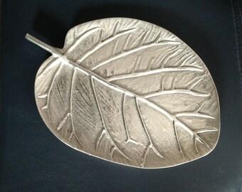 Serving Tray, Metal Tray, Trinket Dish, Leaf Dish,