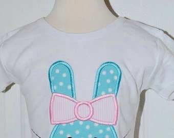 Personalized Easter Bunny Applique Shirt or Onesie Girl or Boy