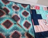 Southwest Baby Quilt, Quilts for Sale, Aztec Baby Quilt, Toddler Quilt, Southwestern Blanket, Southwest Baby, Aztec Blanket, Aztec Decor,
