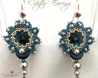"""Beading Kit : """"Calytrix""""Earrings in English Beads Only! D.I.Y."""