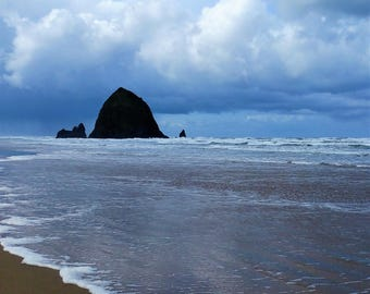 Oregon Coast - Haystack Rock 8x10 Nature Photography Digital Print - Explore Outdoors Cannon Beach
