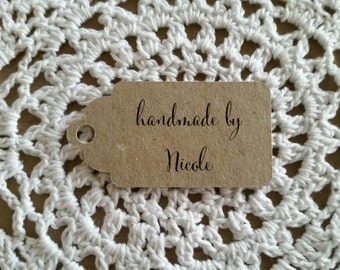 CUSTOM Tag for Handmade Gifts/Presents - 6cm x 3.5cm 100% Recycled Card Tag