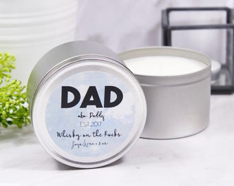Dad Scented Soya Wax Tin Candle - Personalised Candle - Candle For Dad - Tin Candle - New Dad Candle - Father's Day Gift