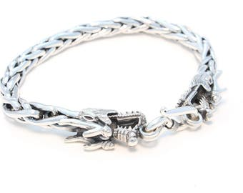 Simple Dragon bracelet in 925 sterling silver