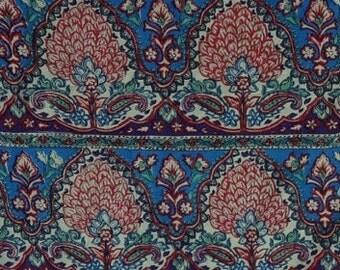 Paisley print Rayon rayon challis fabric fabric by yard rayon print fabric rayon scarf rayon dress 1940s rayon dress womens clothing