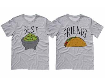 Best Friends Guac And Taco Shirt, Duo Matching Partner, Taco Tuesday, BFF Shirts, Guacamole Shirt, Couples shirt