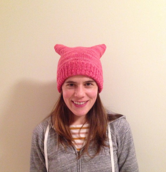 Pink pussy hat 100% merino wool soft and warm