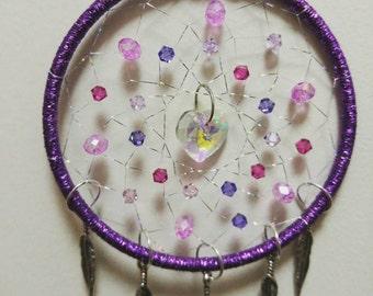 Heart's Delight Purple Dreamcatcher 3 inch