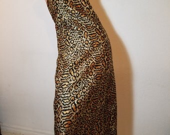 FREE  SHIPPING  Couture Designer Leopard Dress