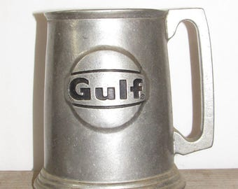 Vintage Pewter Mug, Gulf Oil Collectible Mug, Philadelphia Mug, Operation Sparkle 1981, Memorabilia, Philly Mug