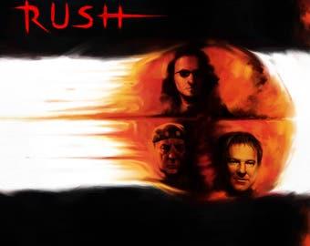 Rush Vapor Trails Limited Art print.