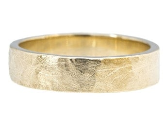 The Standard Hammered Rustic Band 5mm