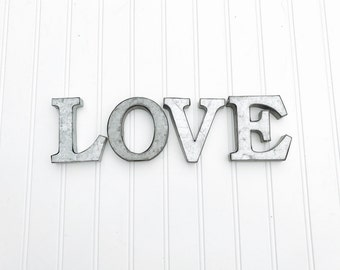 White Metal Letters Extraordinary Metal Letters  Small Metal Letters  Rustic Decor  Rustic 2017