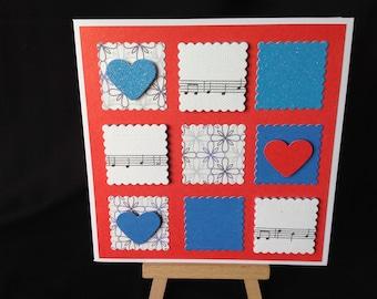 Happy Birthday Music Patchwork Card