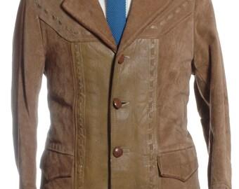 Vintage 1970's Pioneer Wear Suede Shearling Coat XS - www.brickvintage.com