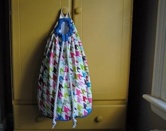 Hanging Laundry Bag, Toys Bag, Nursery Storage Bag, Girls Drawstring Bag, Canvas Laundry Bag, Wall Laundry Bag, Personalized Laundry Bag, UK