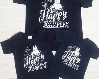 Family Vacation Shirts, Family Camping Shirt, Happy Camper Shirt, Family Shirts, Family Vacation Tees, Camping Tees, Matching Family Shirts