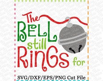 EXCLUSIVE The Bell Still Rings Sleigh Bell SVG Cutting File, Sleigh Bell cut file, jingle bell svg, reindeer bell cut file reindeer bell svg