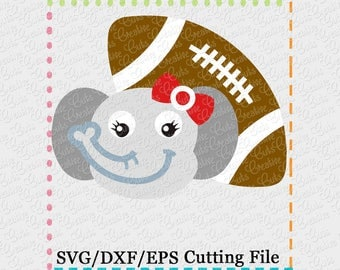 EXCLUSIVE SVG eps DXF Cutting File Elephant Football svg, mascot svg, football svg, elephant cut file, elephant cutting file, roll tide svg