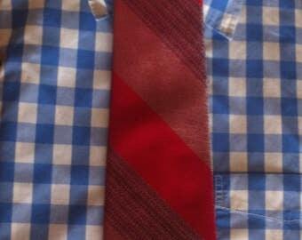 Vintage Wide Red Neck Tie with Diagonal Strips Terry Queen 300 by Currie Vintage Necktie Neck Tie Menswear