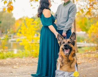 Pet Engagement Pictures - My Humans Are Getting Married Sign - Engagement Photo Prop - Pet Engagement Photos - Rustic Photo Prop