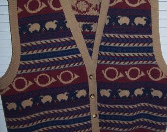 Vest XL, Vintage Pendleton Knock-A-Bout Wool Vest French Horn XL WONDERFUL Vintage Find see details