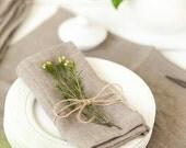 Softened linen napkins set of 6 - Linen napkins - Gray napkins - Organic napkin cloth - Easter cloth napkins - Rustic wedding napkins