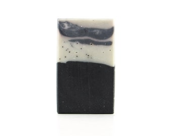 Charcoal Handmade Artisan Soap with Star Anise, Patchouli, Lime, Spearmint, & Bentonite Clay