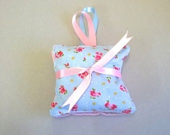 Lavender bags in blue and pink, floral lavender sachets, hanging scented bags, Lavender sachets, lavender pillows