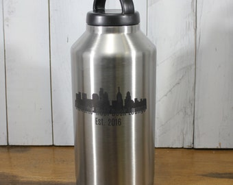 RTIC 64 oz Growler/Double Wall Stainless Steel/Beer/Craft Beer/Monogram/Personailzed/Christmas Gift/Gifts for Her or Hi